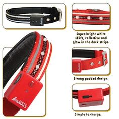Make sure everyone sees your pooch coming with this Ultimae 4-Way Flashing Collar. $29.50