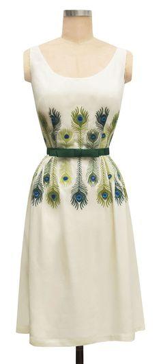 trashy diva ivory katherine dress bridal cream feather embroidery