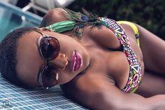 Hot Shots: #SwimwearSunday Poolside With Model Linda Roberts Shot By Chrisalide Photography | FashionGHANA.com: 100% African Fashion