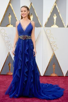 Oscars red carpet 2016: So Brie Larson won the battle for Gucci! To recap for non fashion people who've inexplicably found themselves on here. Gucci is so hot right now. It's the brand that the entire fashion industry is obsessed with at the moment. So Brie wearing Gucci is a massive statement: she's declared herself to be, you know, properly Fashion, and possibly interested in some sort of fashion contract. Not that you would know it from the Year 11 hair, mind.