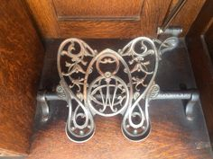 Wilcox and Gibbs treadle foot pedal. So charming I think.