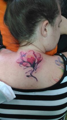 Flowers#tattoo#watersplash#ink#blessinkarttattoo