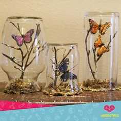 Easy and Fun Valentines Crafts for Kids to Make – Paper Butterfly Origami Art Butterfly Birthday Party, Butterfly Baby Shower, Butterfly Garden Party, Butterfly Tree, Butterfly Crafts, Butterflies, Mason Jar Crafts, Bottle Crafts, Diy Home Crafts