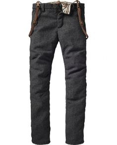 Scotch & Soda's Woolen Pants with Suspenders. I want one so bad.