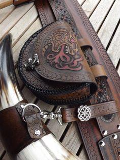 "beastmancaravan: "" My viking utility belt is done. Beastman Caravan on Etsy Like Beastman Caravan on FB Please the gods and honor your ancestors """