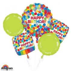 RAINBOW BIRTHDAY BALLOON BOUQUET Order Birthday Balloon Online In Bahrain