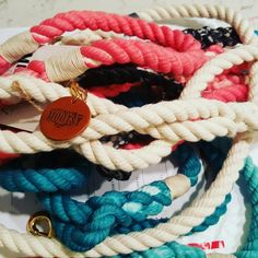 Our nautical leashes are sturdy and comfortable for all dogs in every size.  We ship worldwide!