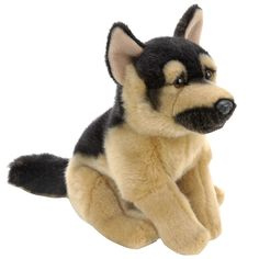 "Toys R Us Plush 17 inch German Shepherd - Black and Tan - Toys R Us - Toys ""R"" Us"