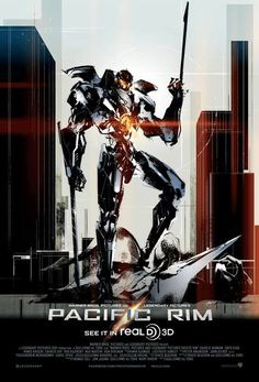 Pacific Rim movie poster by Metal Gear Solid art director Yoji Shinkawa.
