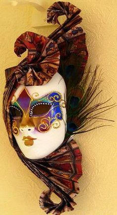 venetian mask made for a masquerade is one of modern wall decorating ideas