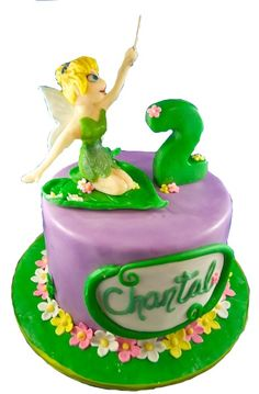 Tinkerbell Fairy Sculpt fondant cake with modelling chocolate fairy