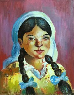 A girl from village Paintings, Art, Art Background, Paint, Painting Art, Kunst, Performing Arts, Painting, Painted Canvas