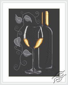 Bottle of Wine - Cross Stitch Kits by Luca-S - B2221