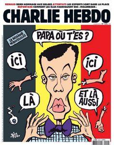 <em>Charlie Hebdo </em>se mofa de atentados de Bruselas en última portada