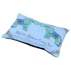 Henna Elephant (Blue/Light Blue) Pet Bed - blue gifts style giftidea diy cyo