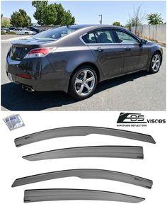 Eos Visors For 09 14 Acura Tl Jdm Mugen Style Side Sun Shade Rain Deflectors Acura Tl Jdm Eos