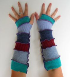 Recycled Sweater Fingerless Gloves Upcycled Clothing Armwarmers Arm Warmers…