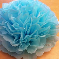 DIY Giant Tissue Paper Pom Flowers