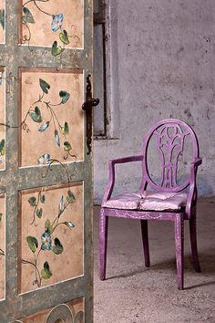 COLORWAYS  Inspiration Idea for using Annie Sloan Chalk Paint Custom Color : Purple