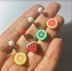 Belly Button Ring Jewelry Fruit Watermelon Grapefruit Lime