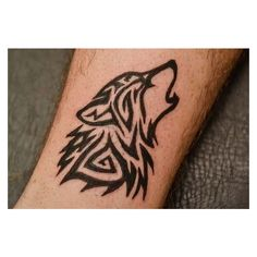 Mysterious Wolf Tattoo Ideas ❤ liked on Polyvore featuring accessories