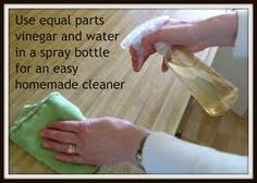 To save on glass cleaner, I make my own. Just mix equal parts of water and vinegar. It works perfect!!!!