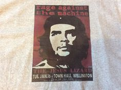 Grey Xlarge Rage Against The Machine Music Gigg Poster Tshirt