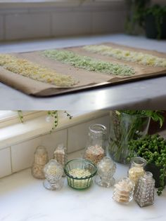 Citrus Salts - great idea!  They also smell delicious when you are baking them in the oven