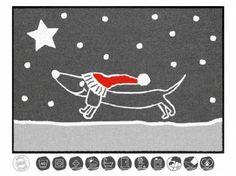 Tierische FußmattenDesigner Fußmatte: Hund Dackel Bommel