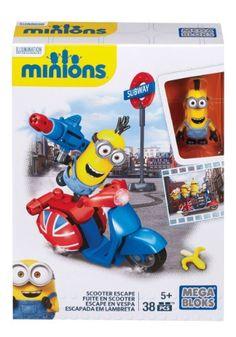 1428427ac4 Mega Bloks Minions Scooter Escape Set Minion Toy