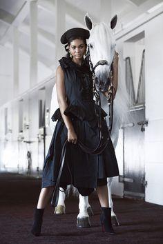 GLOBAL * FASHIONS, Chanel Iman - Harper's Bazaar Arabia November 2015...