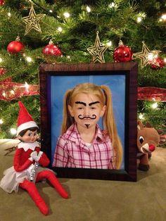 Elf on the Shelf - Sparkle drew on Piper!