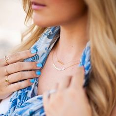 How do you layer your fave @gorjanagriffin delicate necklaces?