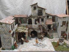 Bildergebnis für porte per presepi Christmas Crib Ideas, Christmas Nativity Scene, Nativity Scenes, Fantasy House, Casa Fantasy, Free To Use Images, Ceramic Houses, Romantic Homes, Stone Houses