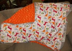 Minky Blanket Sewing Tutorial - A Moms Take #Sewing #Crafts #Blanket