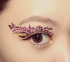 1 Pair Eye Temporary Tattoo Spring Makeup Eyeshadow by cclstore, $4.00