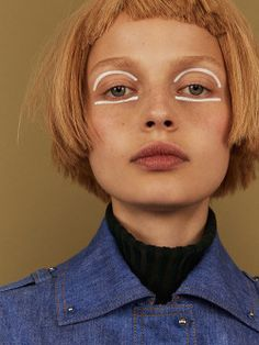 Becca Breymas by Hordur Ingason for iD Magazine Pre-Fall Styled by Hair by Josephine Mai. Make-up by Marie Thomsen Makeup Inspo, Makeup Art, Makeup Inspiration, Beauty Makeup, Eye Makeup, Hair Makeup, Hair Beauty, Makeup Ideas, Clown Makeup