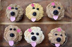 Puppy Birthday Cakes, Girl Birthday Cupcakes, Girl Cupcakes, Birthday Parties, Puppy Cupcakes, Puppy Cake, Animal Cupcakes, Cupcake Piping, Cupcake Cakes
