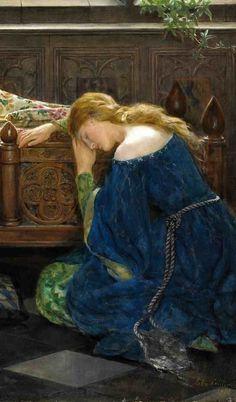 John Collier (1850-1934) - The Sleeping Beatuy (detail)