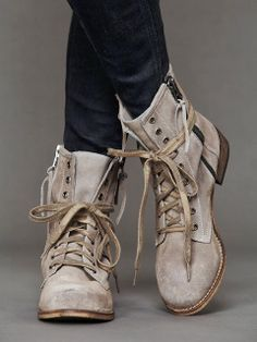 Ladies Lace Combat Boots