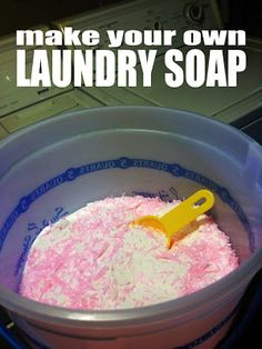 anne b. good: I'm making homemade laundry soap. Here's why. And how.