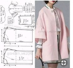 Sewing - Make Your Own Clothes Coat Pattern Sewing, Coat Patterns, Blouse Patterns, Clothing Patterns, Sewing Patterns, Skirt Patterns, Sewing Tutorials, Sewing Projects, Mantel Outfit