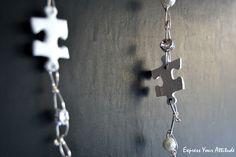 DIY Puzzle necklace