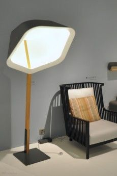 Giant floor lamp by Ligne Roset presented in 2013 at imm cologne