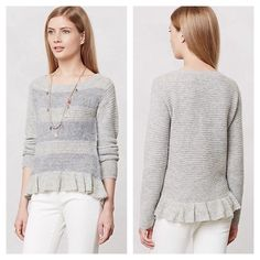 Anthropologie Grey Sweater Cozy, soft, and warm. Brand new sweater from Anthropologie. Never worn. Anthropologie Sweaters Crew & Scoop Necks