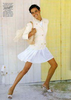 ☆ Nadege Du Bospertus | Photography by Tiziano Magni | For Vogue Magazine US | February 1990