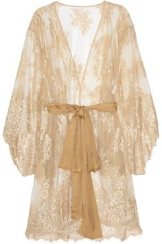 Rosamosario Nudita Ricca lace robe  NET-A-PORTER.COM