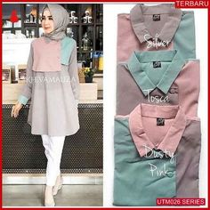 Verkaufe Kheva-Bluse im Online-Kiosk von Trusted Online jhonson_tampubolon Modern Hijab Fashion, Abaya Fashion, Muslim Fashion, Modest Fashion, Korean Fashion, Fashion Dresses, Hijab Style Dress, Casual Hijab Outfit, Office Attire Women