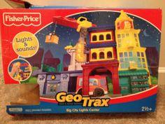 GeoTrax - Big City Lights Center - Fisher Price - Geo Trax Set #FisherPrice