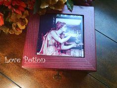 Rosewood Traveling Altar Minature Kit Pre-Raphaelite Women of Magic Athame Wand Pentacle Altar Tile Bell Salt Dish by HoneyVineMagickals on Etsy